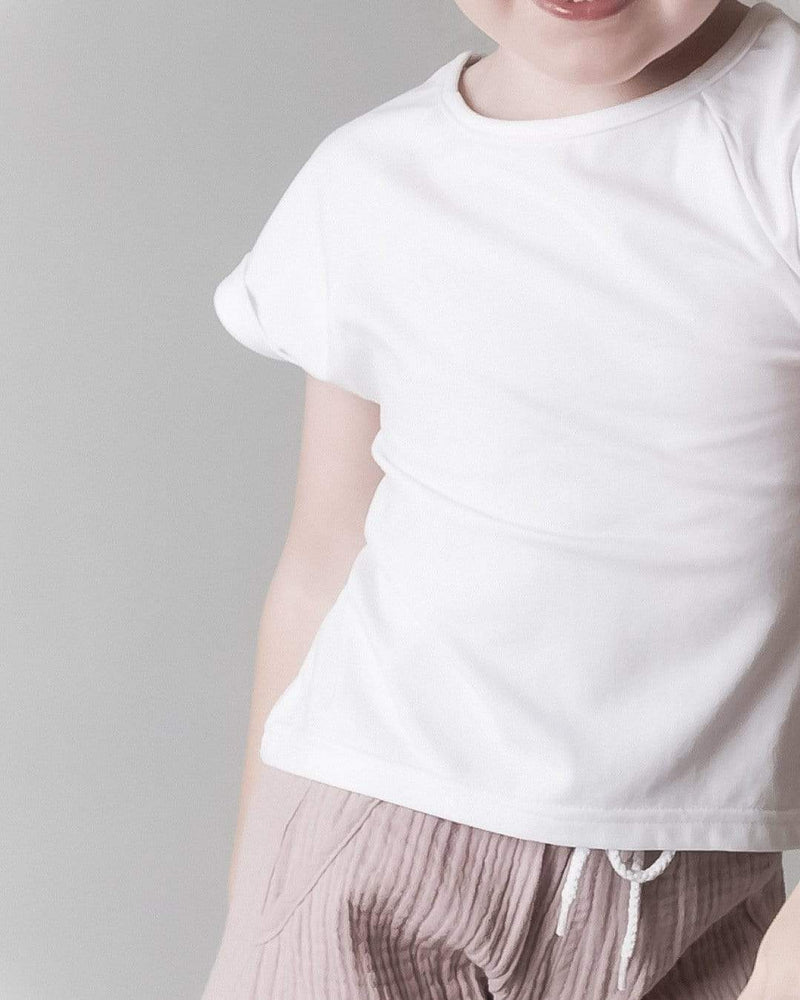 SPLIT BACK TEE - WHITE