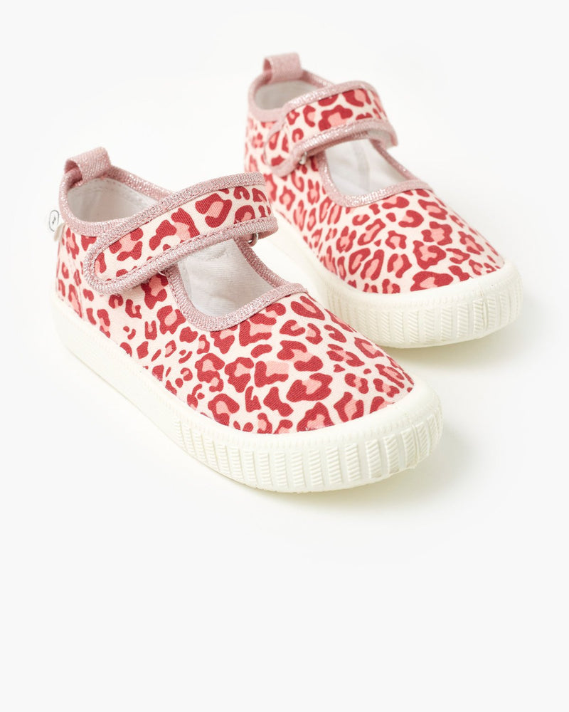 MARY JANE CANVAS - PINK LEOPARD