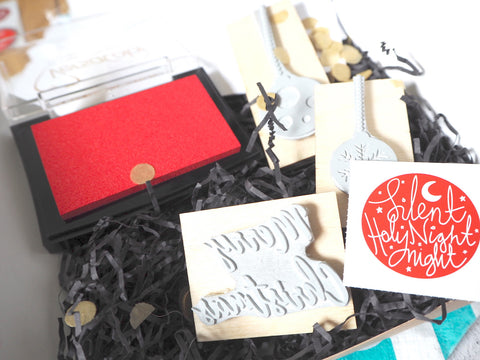 Christmas Block Printing Craft Kit