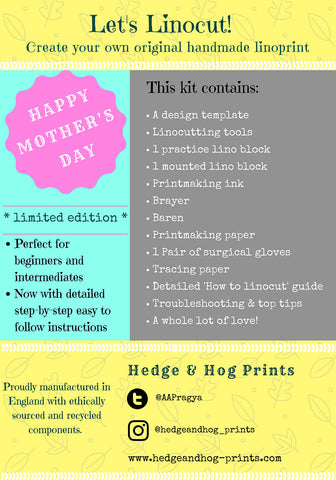 Mother's Day Linocut Kit