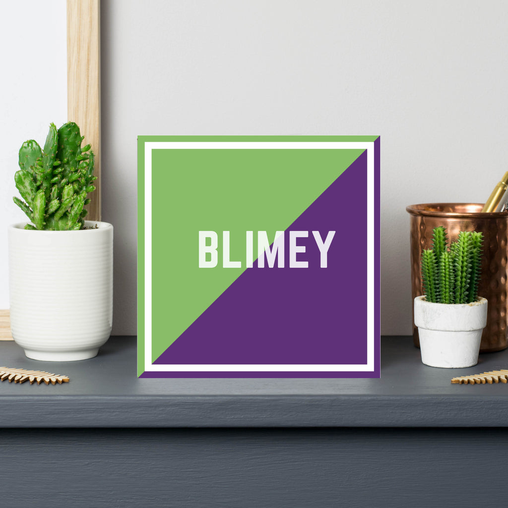 blimey-british slang-purple-green-modern