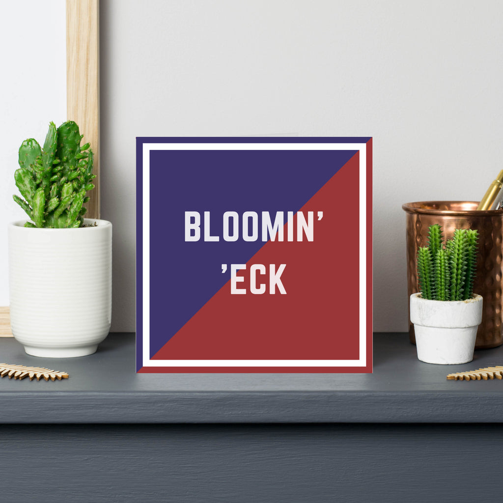 blooming' heck- card- british slang
