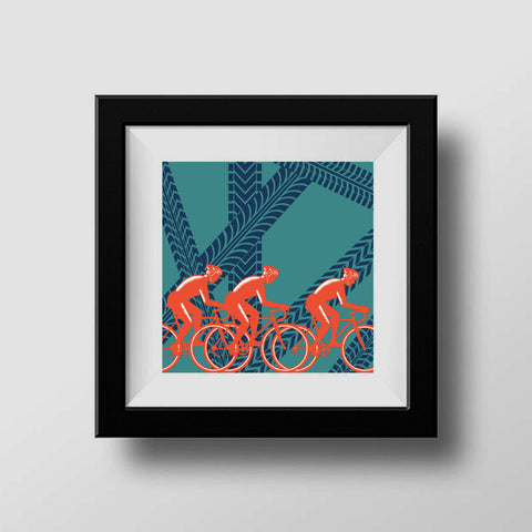 Cycling Tracks Father's Day Print for Cyclist Dads