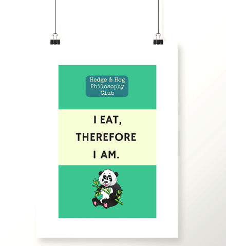 'I eat, therefore I am' kitchen print