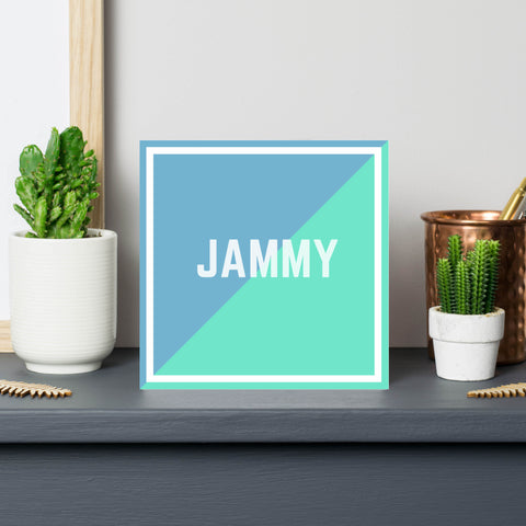 jammy-british slang-good luck card
