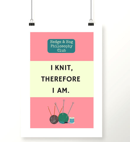 Knitting Craft Room Art Print