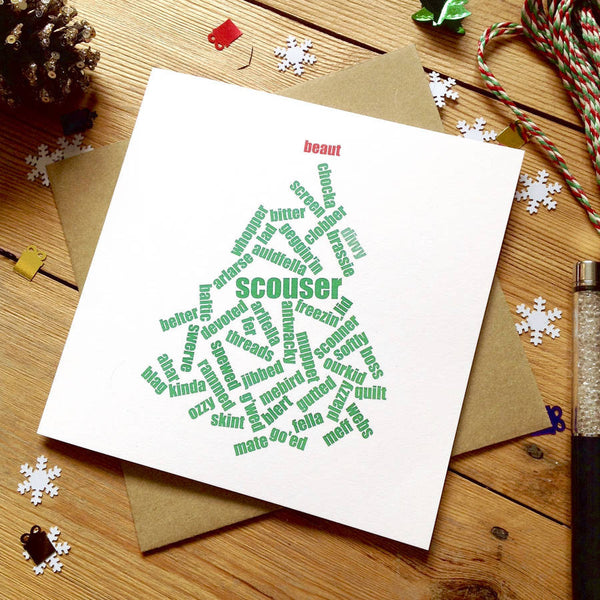 Liverpool 'Beaut' Scouse Christmas Card