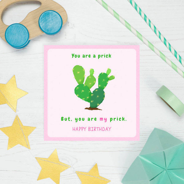 Funny and Rude Cactus Birthday Card
