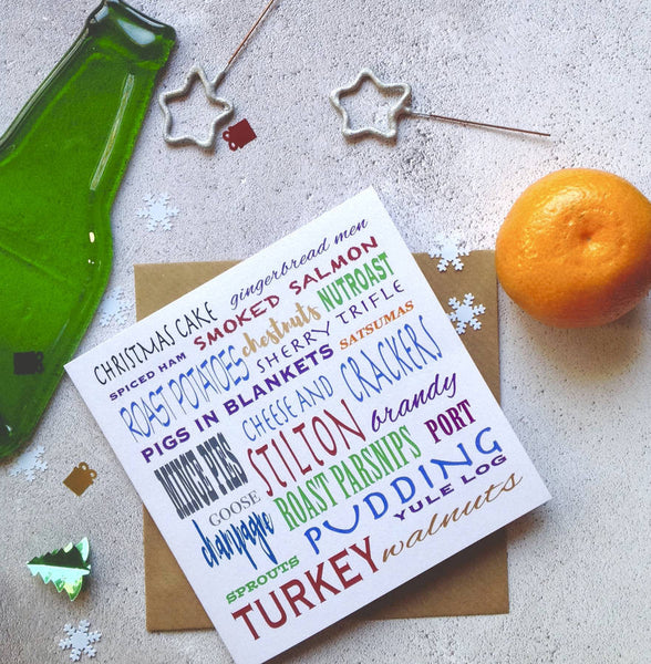 Christmas Food 'Eat, Drink And Be Merry' Card