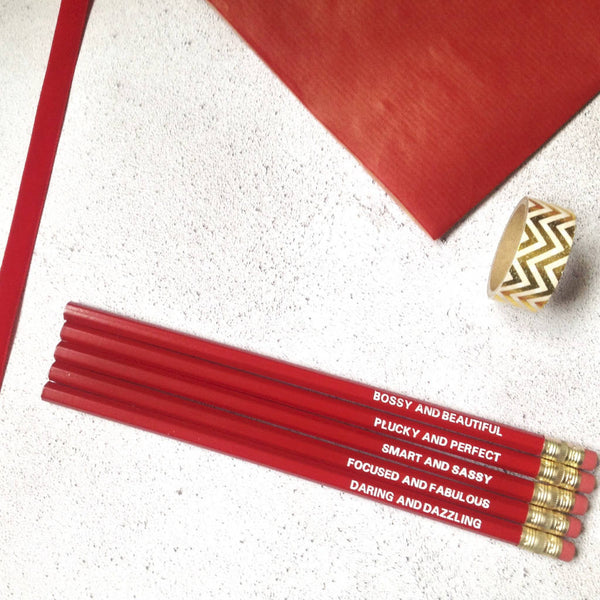 Girl Boss Pencils Set