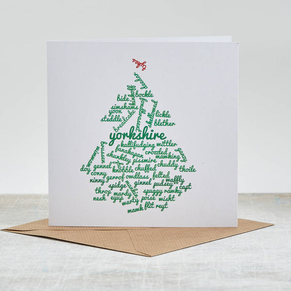 Merry Yorkshire Christmas Card Pack Of Five