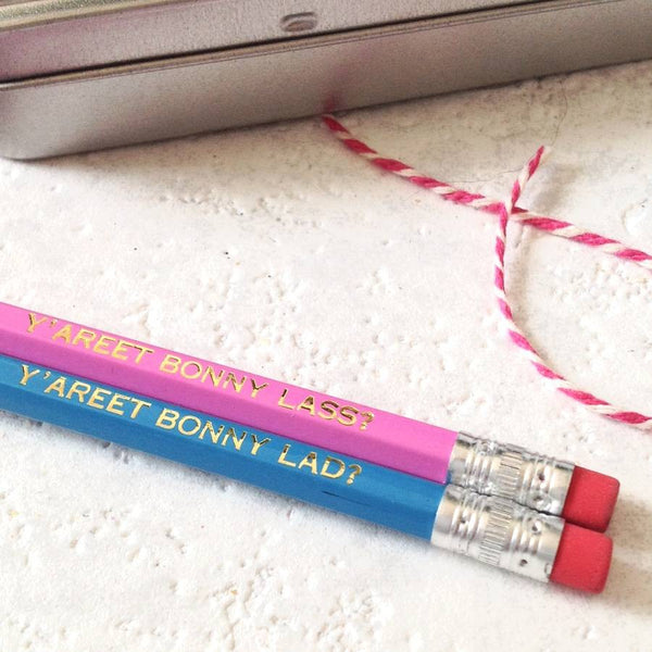 His And Hers 'Bonny' Yorkshire Talking Pencils