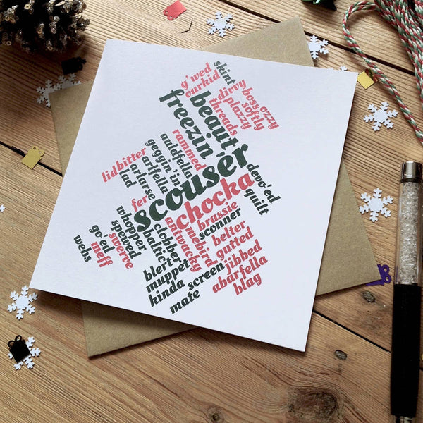 Liverpool Red Green Christmas Tree Card