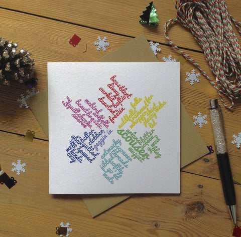 Liverpool Snowflake Christmas Scouse Card