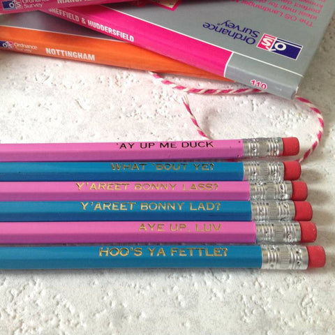 Very British Talking Pencils Set