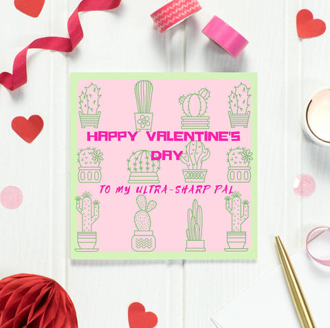 'Ultra Sharp' Cactus Valentine's Card