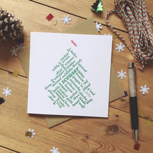 Liverpool 'Mate' Scouse Christmas Card