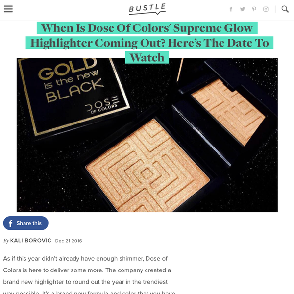 Bustle - Supreme Glow Highlighter