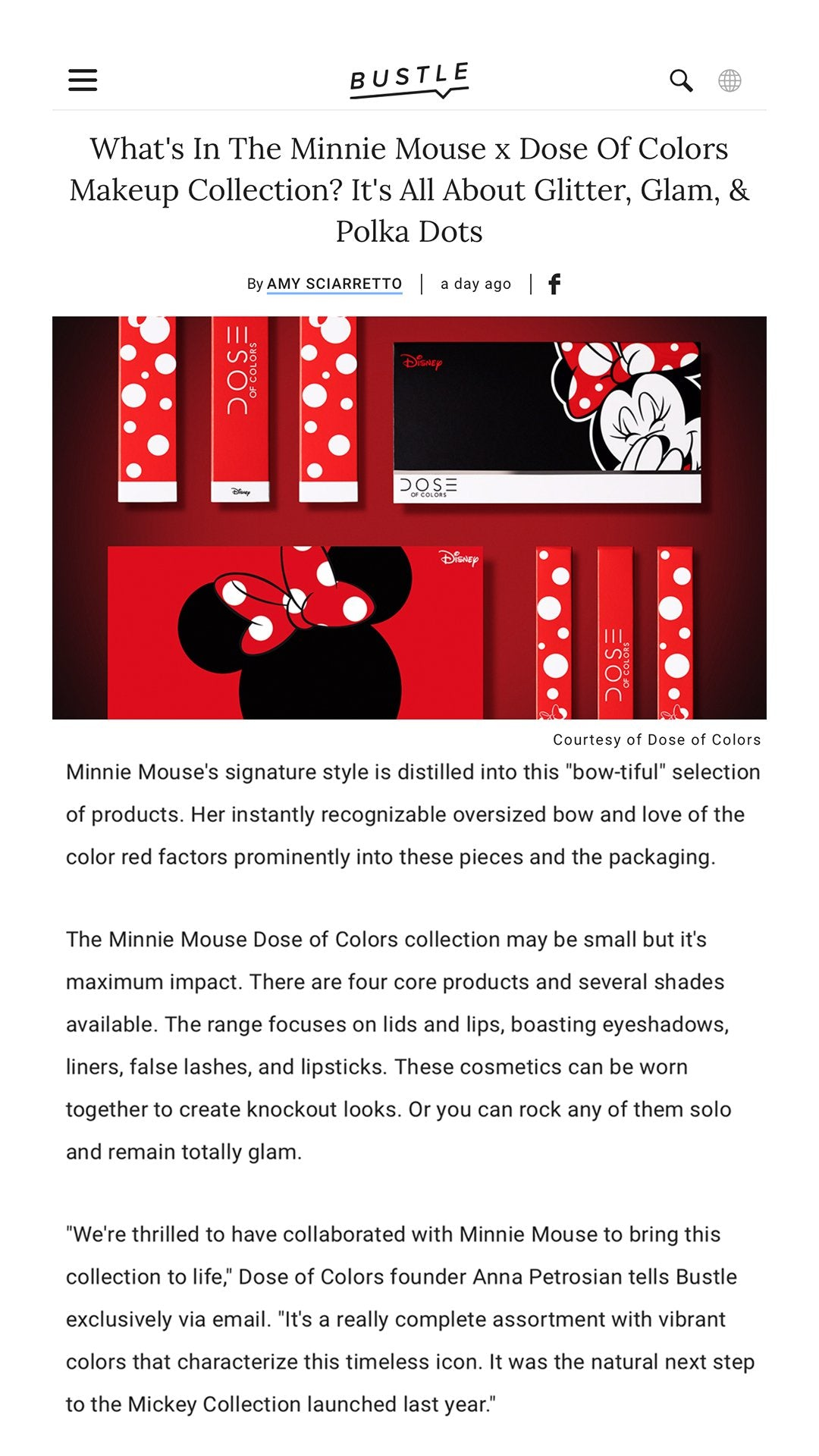 Bustle - Minnie Mouse x Dose of Colors Collection