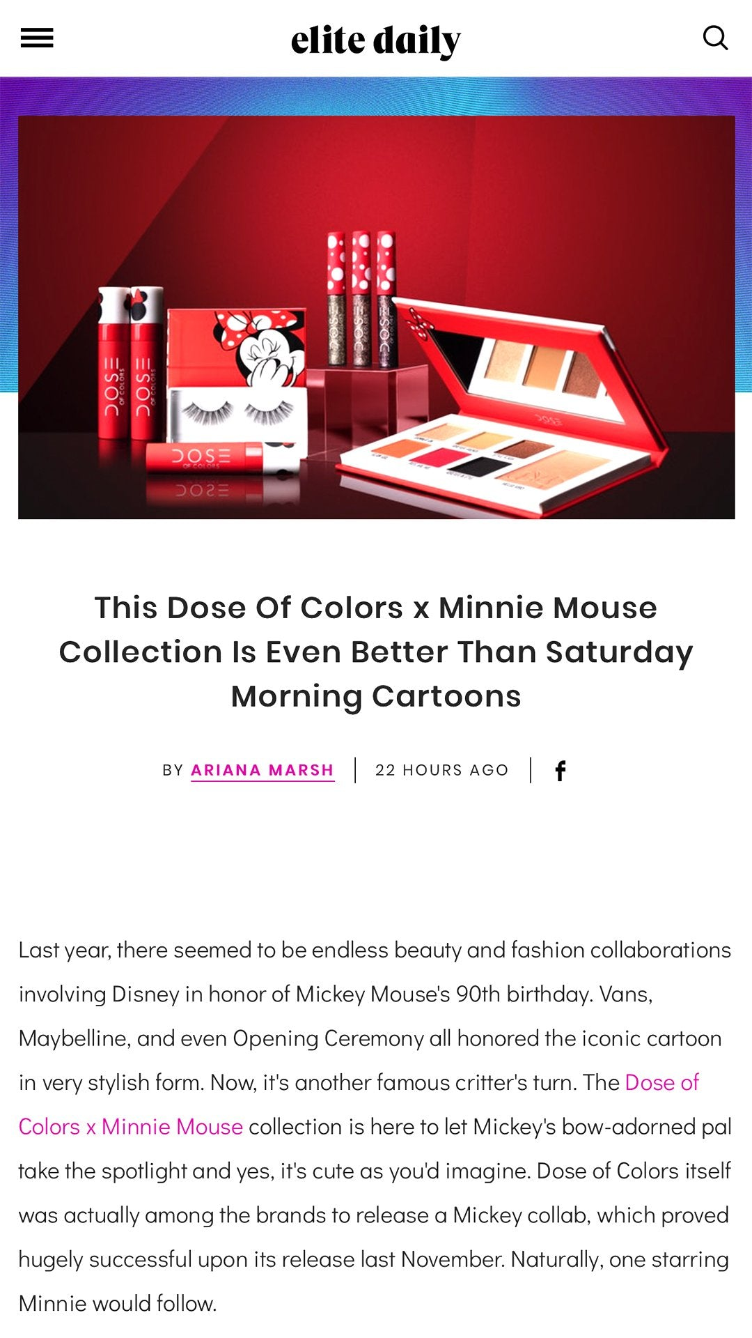 Elite Daily - Dose of Colors x Minnie Mouse
