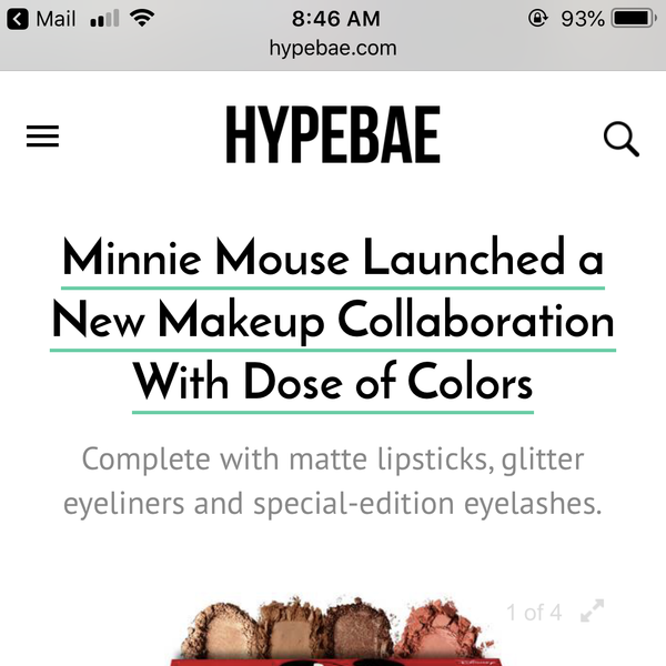 Hypebae - Minnie Mouse x Dose of Colors Collection