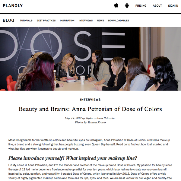 Planoly - Anna Petrosian of Dose of Colors