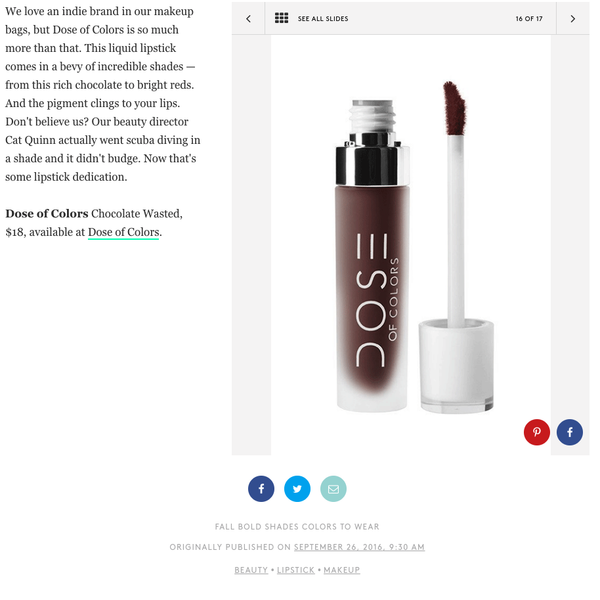 Refinery29 - Chocolate Wasted Liquid Matte Lipstick