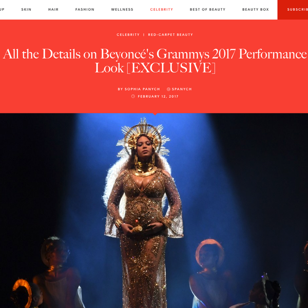 Allure - All the Details on Beyoncé's Grammys 2017 Performance Look