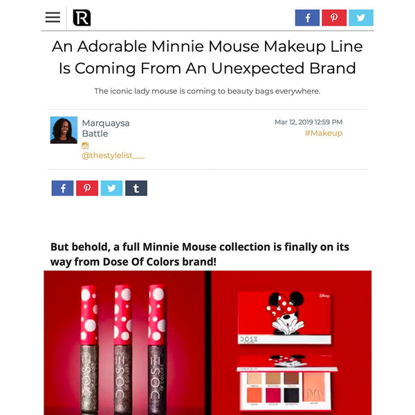 The Revelist - Minnie Mouse x Dose of Colors Collection