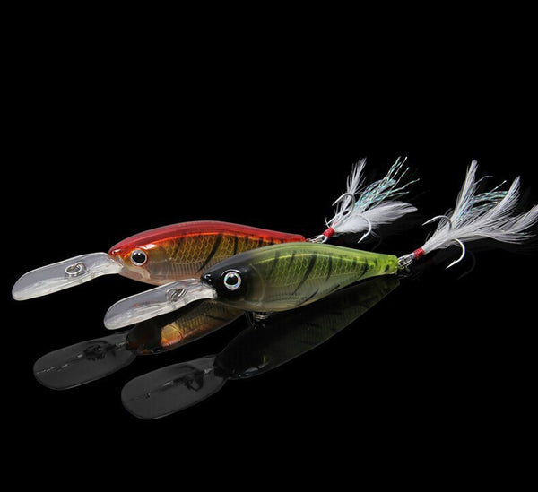Artificial Plastic Deep Diver Hard Lures Crankbaits