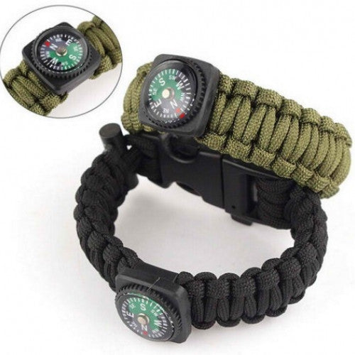 5 in 1 Survival Flint Fire Starter Paracord