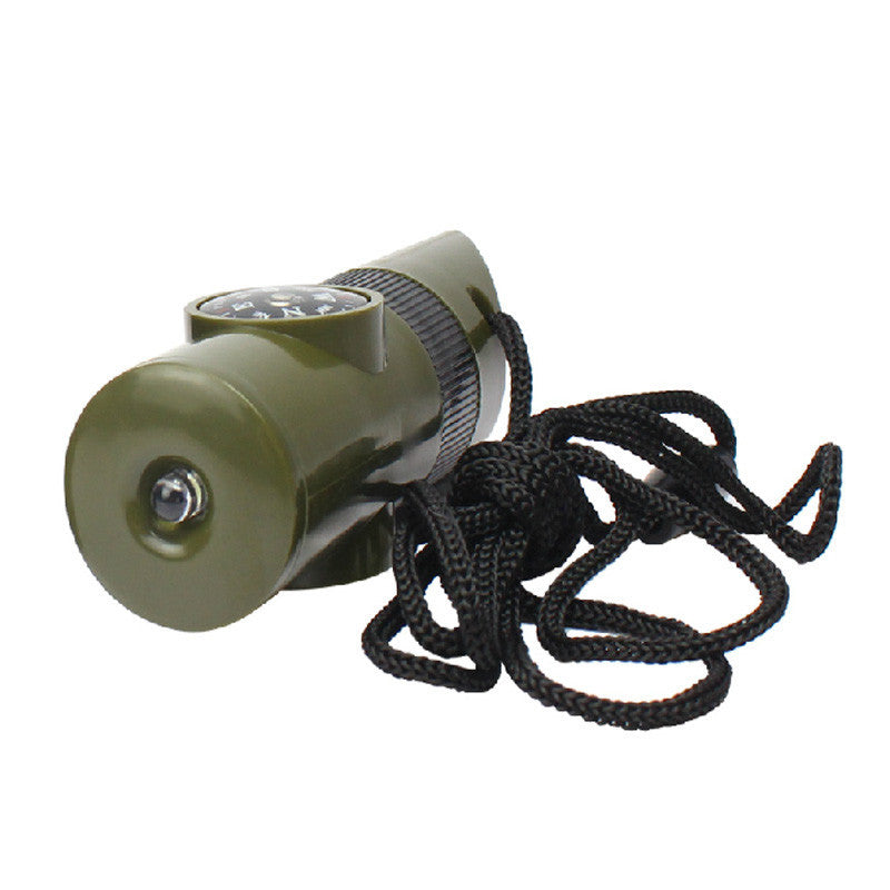 Multi functional 7 In 1 Survival Whistle Compass