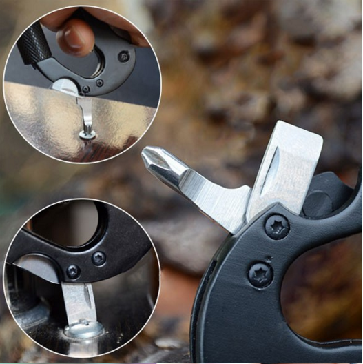 5 in 1 Aluminum Climbing Carabiner Hook Gear