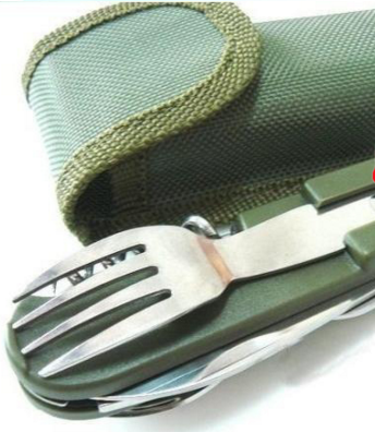 Multi function Outdoor Tool Traveling Stainless Steel Tableware