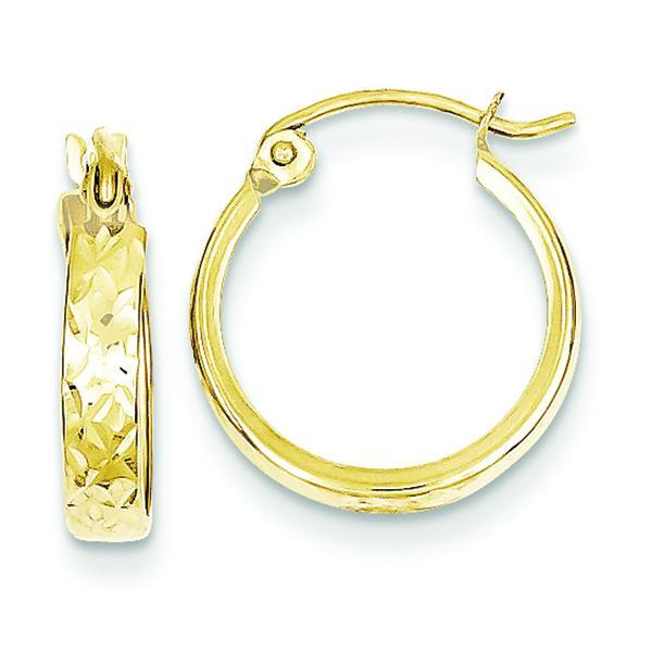 10K D/C Square Tube Hoop Earrings Earrings from [shop name]