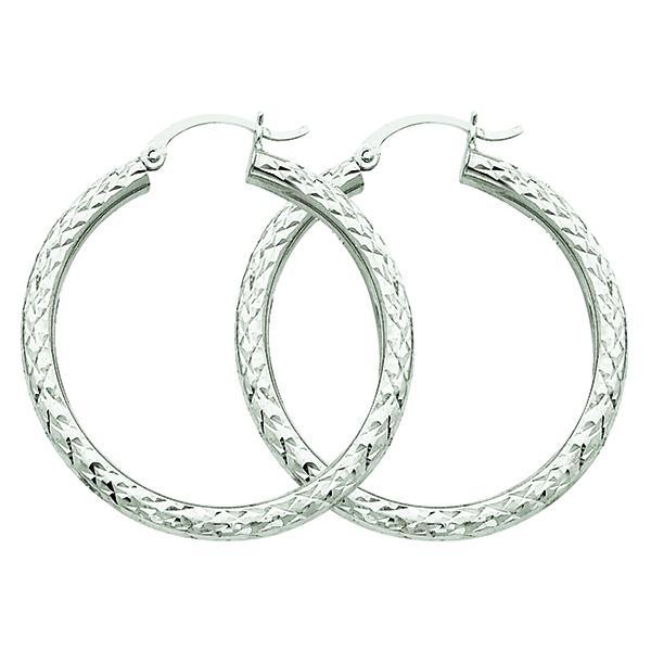 10K White Gold Hoop Earrings Earrings from [shop name]