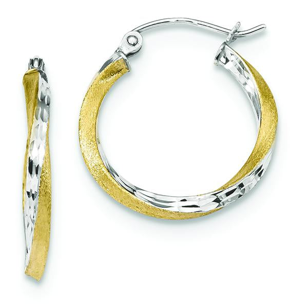 10K Yellow Gold Twisted Hoop Earrings Earrings from [shop name]