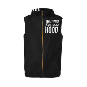 1Hunnid Percent Hood Sleeveless Zip Up Hoodie