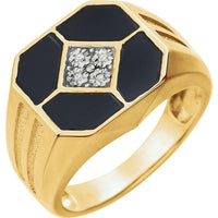 14k Yellow Gold Onyx Ring Ring from [shop name]