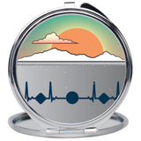 Snowy Ocean Compact Mirror Accessories from [shop name]