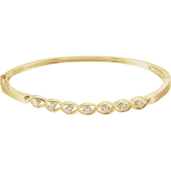 14K Yellow Gold 1/4 CTW Diamond Bangle Bracelet Bracelet from [shop name]