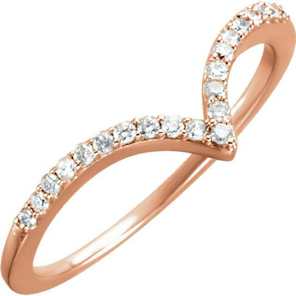 "14K Rose Gold Diamond ""V"" Rize Ring from [shop name]"