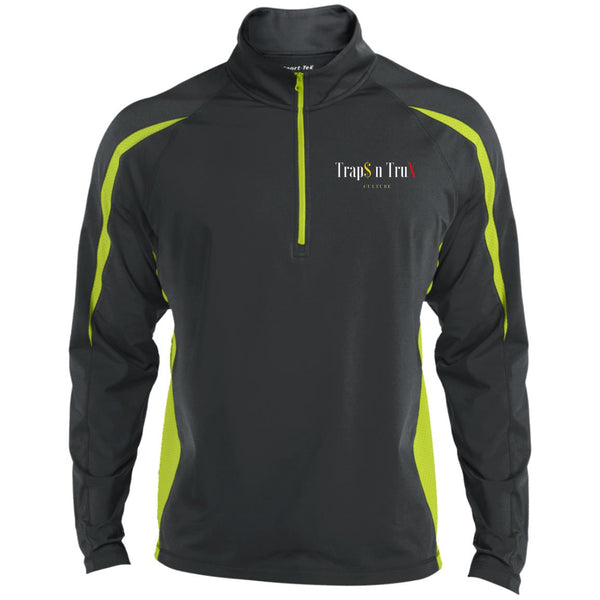 Trap$ n TruX Culture™ no1 - Sport-Tek Men's Sport Wicking Colorblock 1/2 Zip