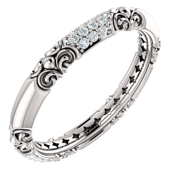 14K White Gold Diamond Sculptural Inspired Ring Ring from [shop name]