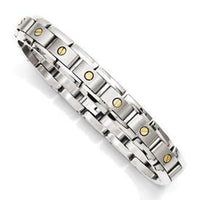 Titanium With 14K Inlay Accent Bracelet from Miles Beamon Jewelry - Miles Beamon Jewelry