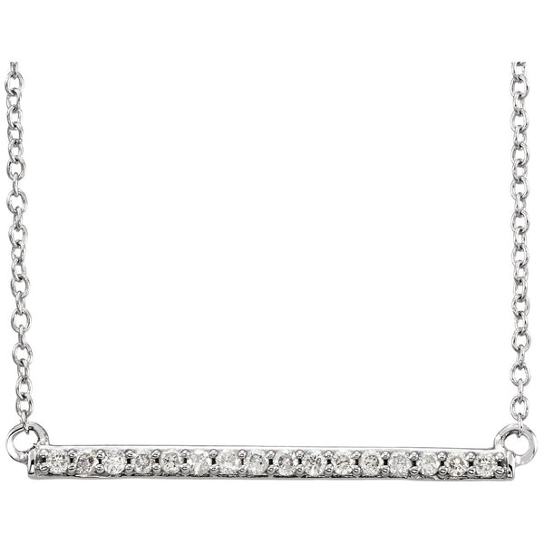 14K White Diamond Bar Necklace Necklace from [shop name]