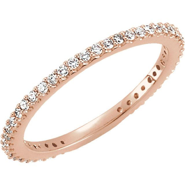 14K Rose Gold Diamond Stackable Ring Ring from [shop name]