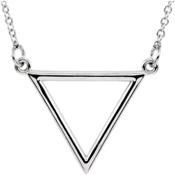 14k White Triangle Necklace Necklace from [shop name]