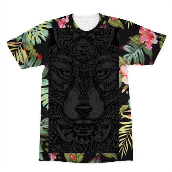 Lone Wolf - Floral Edition  Sublimation T-Shirt