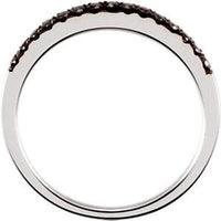 14K White Gold Black Diamond Band Ring from [shop name]